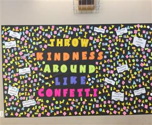 Student accomplishments from Student Council's Annual Twelve Days of Kindness event, December 2016